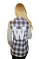 100% Cotton Black Plaid Flannel Top! (B-108)