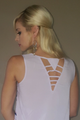 100% Rayon Cutout Back Top from MINE! (B-65)