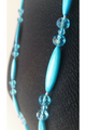 LONG STATEMENT NECKLACE OF TURQUOISE BLUE STONES FROM CHARMING CHARLIE! (G-90)