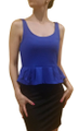 Peplum Dress from Amazing Brand: CAREN SPORT! Blue & Black Colorblock. (F-33)