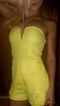 Peplum Romper Boutique Brand Zip-Up Back! Yellow. (B-143)