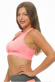 Get Active! Sports Bra/Workout Top with Racer Back! Coral Pink. (A-37)