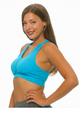 Get Active! Sports Bra/Workout Top with Racer Back! Blue. (A-38)
