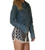 100% Rayon Challis Shorts with Pom Poms! Navy Paisley. From MAZE! (D-199)