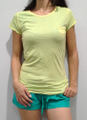 TEE. Extra Long, with Mini Pocket. Green with Teal Interior. 100% Cotton. (A-20)