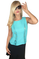 Top w/Lace Accents! Teal/Mint. (A-188)