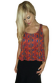 Major Name Brand Tank Top in Rust with Aztec Pattern Print! (D-90)