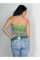 100% Cotton Sleeveless Green Exotic Print Top! (B-105)