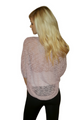 Lightweight Blush Top with Hint of Lavender & Black Accent Sleeves. (A-9)