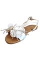 White Flower Sandals! (L-15)