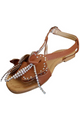 Camel Brown Flower Sandals!  (L-18)