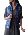 Spring Puffy Vest / Jacket! Navy Blue with Polka Dots. (D-98)