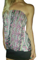 Strapless Top in Boho Fuchsia Paisley. (A-84)