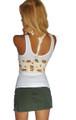 BODY CENTRAL 100% Cotton Beige Floral Vest! (A-53)