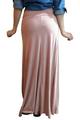 Classic Maxi Skirt in Rayon Tri-Blend! Peach & Orange Stripes. (E-78)