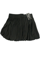 Solid Pleated Black Skirt with Buttons and Zipper Back. (E-31)