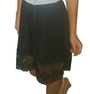 Black Skirt with Crochet Lace Hem! (E-44)