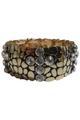 BRACELETS. Classy Metallic Stretch Bracelet. Color: Gold with 'Diamond' Cross. (G-43)
