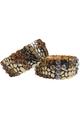 BRACELETS. Classy Metallic Stretch Bracelet. Color: Gold with Amber 'Diamond' Cross.  (G-42)