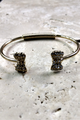 Boho Chic Adjustable Size Cuff Bracelet with Bows! (G-45)