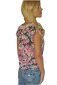 Floral Print Keyhole Tie Top with Lace Trim! (B-64)