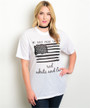 Plus Size USATee! American Flag Top in Black & White! (E-147)