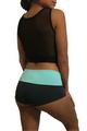 Charcoal Grey Yoga/Cardio Shorts w/Mint Waist. (A-57)