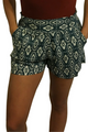 **HOT BRAND** Sage Green Aztec Pattern Shorts! (D-73)