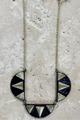 Necklace SET with Earrings! Black Aztec Geo Necklace!  (G-75)
