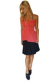 Red Coral Peasant Top is 100% Cotton! (B-153)