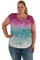 Floral Tie Dye Sublimation Top. Cutout Back and Stones. $29 Tags! (D-128)