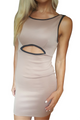 Mocha Brown Bodycon Dress from CHESLEY with Sexy Cutout! (C-188)