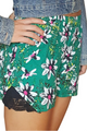 Green Floral Shorts with Lace Accents! (E-20)
