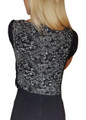 Black & White Paisley Top with Lace Overlay! (B-53)