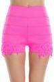 Pink Stretch Crochet Hi-Waisted Shorts! (E-14)