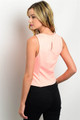 Pink Peach Sleeveless Cutout Top with Built-In Necklace! (A-178)