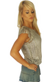 100% Cotton! Boutique Crochet Top! Color: Smoke.  (A-137)