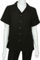 Expensive Boutique Cabana Shirt! Solid Black.  (C-66)