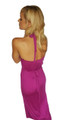 Maxi Dress with Slit Side and Zebra Print Lining! Magenta Purple.  (C-109)