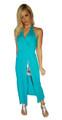 Maxi Dress | Blue Teal | Zebra Cutout  (C-107)