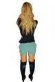Green Shorts   Studs   Pockets   Major Brand Name  (D-87)