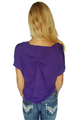 Purple Rayon Top |Subtle Cowl Neck | 100% Rayon  (A-12)