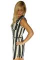 Black & White Striped Dress w/Belt from Marianne!  (C-171)