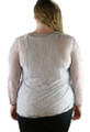 Plus Size Gray Long Sleeve Lace Print Top (B-88)