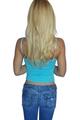 100% Cotton Tank Top | Cami | Miss Vintage | Beads | Boutique Brand | Blue  (E-107)