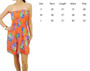 Strapless Dress | Fully Lined | Orange Floral (A-108)