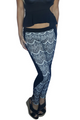Black Skinny Jeans. White Lace Overlay.Boutique Brand:| CHOCOLATE USA (D-120)