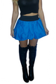 Cobalt Blue | Pleated Skirt | Black Waist (E-80)