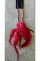 RUE 21 Boho Chic Feather Earrings. Red.  (G-54)