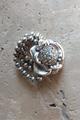 Flower and Silver Bead Stretch Bracelet w/Crystal & AB Stones  (G-47)